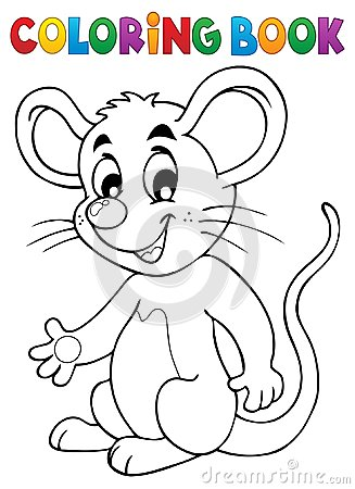 Free Coloring Book Happy Mouse Royalty Free Stock Images - 104525469