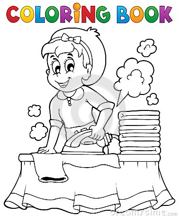 Coloring book with housewife 1