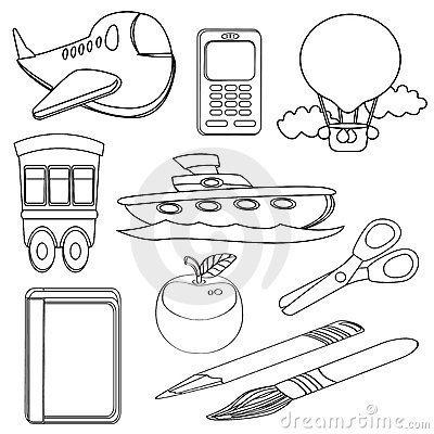 Coloring Book Icon Set