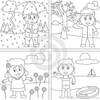 Coloring Book For Kids 28 Stock Images