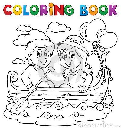 Free Coloring Book Love Theme Image 1 Royalty Free Stock Images - 28710089