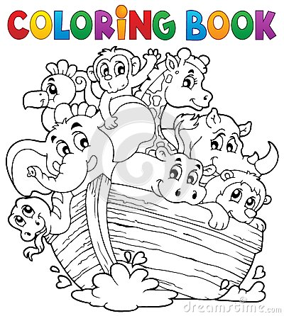 Free Coloring Book Noahs Ark Theme 1 Royalty Free Stock Photo - 40081975