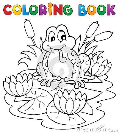 Coloring book river fauna image 2
