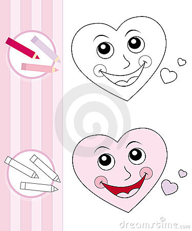 More similar stock images of ` Coloring book sketch: cute heart ` Cute Sketches Of Hearts