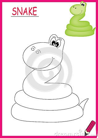 Coloring book snake
