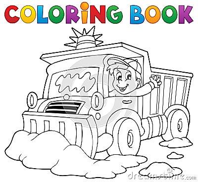 Coloring book snow plough