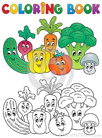 Free Coloring Book Vegetable Theme 2 Royalty Free Stock Photo - 31538225
