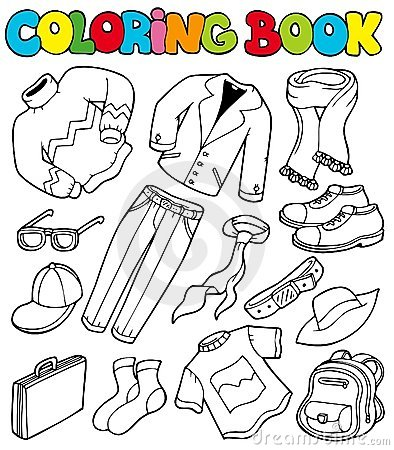 Free Coloring Book With Apparel 1 Stock Photos - 16682463