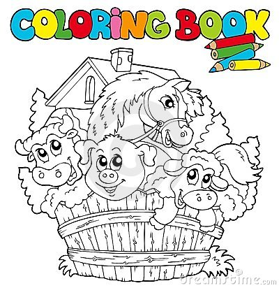 Free Coloring Book With Cute Animals 2 Stock Photo - 16368250