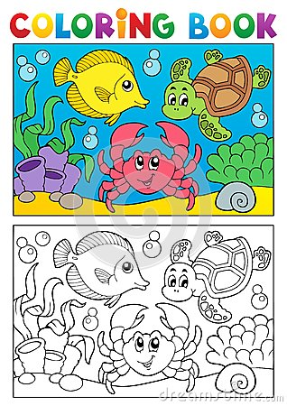 Free Coloring Book With Marine Animals 5 Royalty Free Stock Photo - 28198825