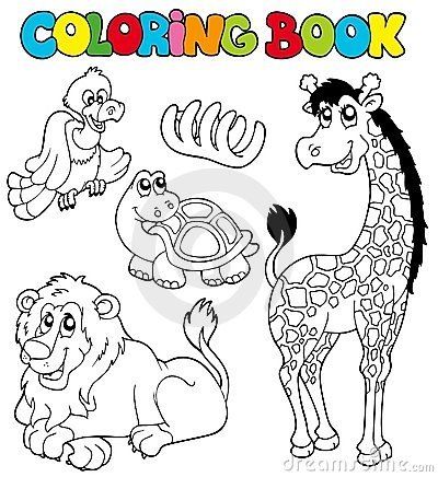 Free Coloring Book With Tropic Animals 2 Royalty Free Stock Photo - 16231375