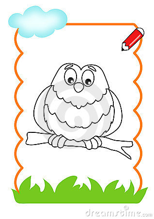 Coloring book of the wood, owl