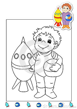 Coloring book of the works 1 - astronaut