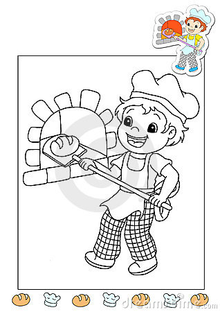 Coloring book of the works 10 - the bread s man