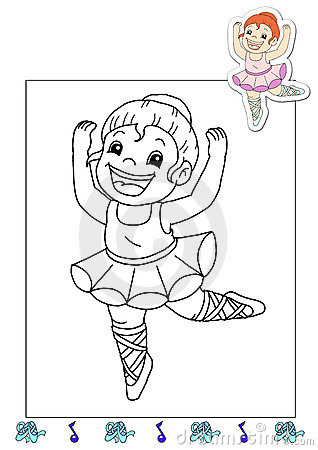 Coloring book of the works 2 - dancer