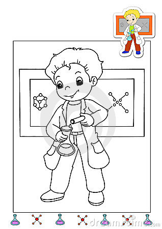 Coloring book of the works 20 - chemical