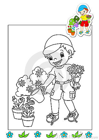 Coloring book of the works 21 - gardener
