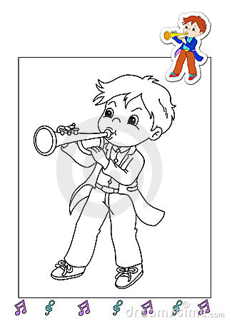Coloring book of the works 25 - musician