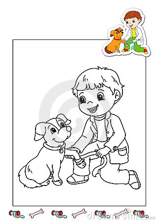 Coloring book of the works 27 - veterinarian
