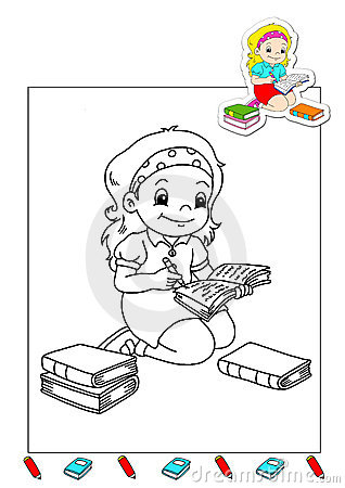 Coloring book of the works 28 - writer
