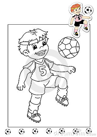 Coloring book of the works 29 - soccer player
