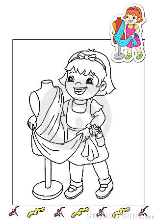 Coloring book of the works 30 - tailor