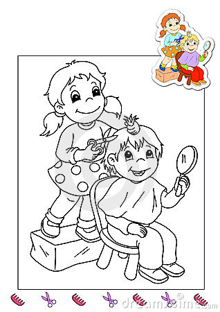 Coloring book of the works 31 - hairdresser