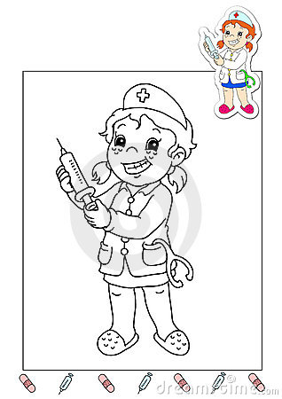 Nurse Coloring Pages - wth
