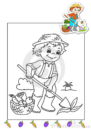 Coloring book of the works 33 - farmer