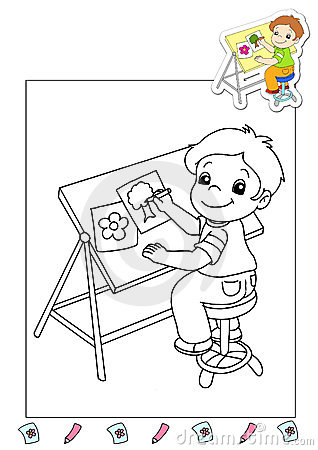 Coloring book of the works 36 - illustrator