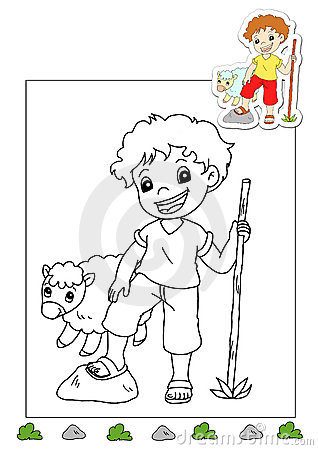 Coloring book of the works 37 - shepherd