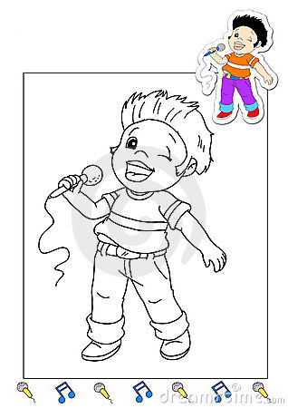 Coloring book of the works 5 - singer