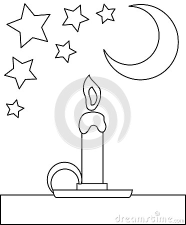 Coloring candle