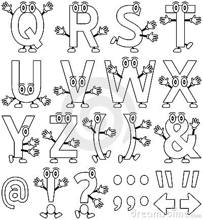 Free Coloring Cartoon Alphabet [2] Stock Photo - 12457510