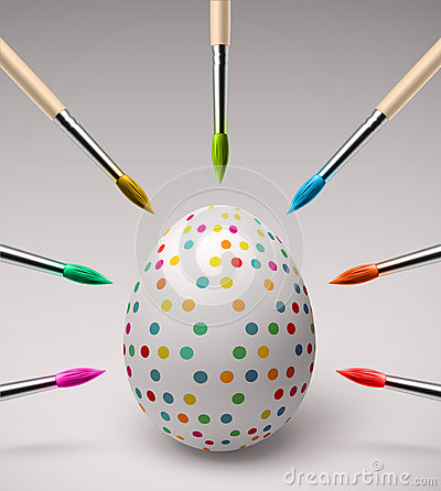 Free Coloring Easter Eggs Royalty Free Stock Images - 38666699
