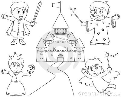 Coloring Fairy Tale Characters