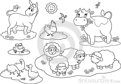 Coloring farm animals 2