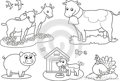 Coloring Farm Animals 2 Stock Photos - Image: 26555963