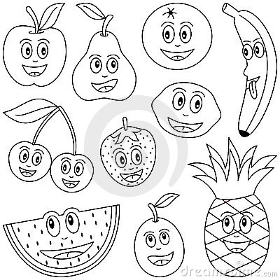 Free Vector Fruits on Coloring Fruit For Kids Royalty Free Stock Photo   Image  9150885