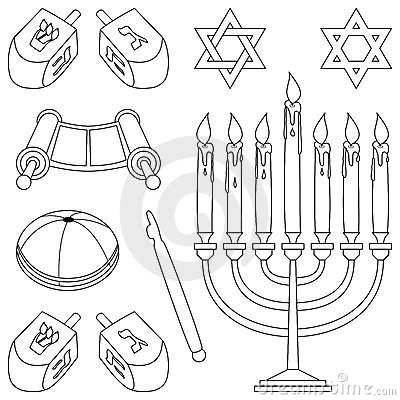 Coloring judaism elements stock photo image 11877410 for Torah coloring pages