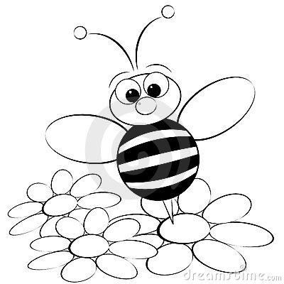 kids illustration with ant and daisy coloring page kids illustrations collection