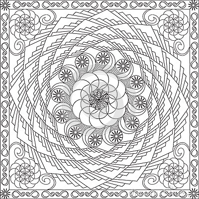 Floral Designs Coloring Pages Page Book With Blank Spaces For Adults Geometric Spiral