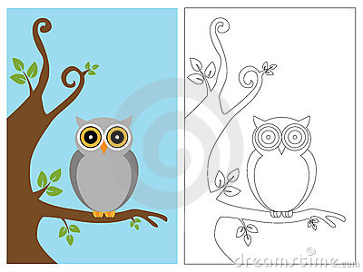 Abstract Coloring Pages on Coloring Page Book   Owl Royalty Free Stock Photos   Image  20588568