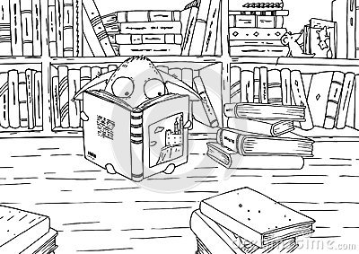 library building coloring pages
