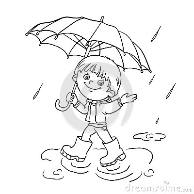 coloring pages umbrella rain coloring page outline of a cartoon joyful girl walking in the