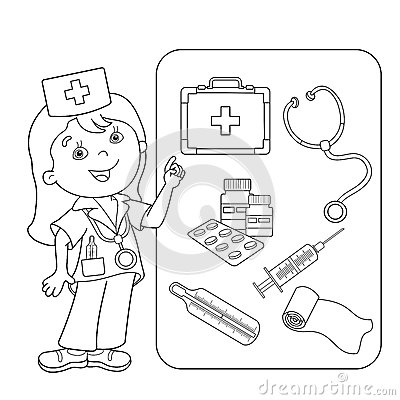 kids coloring pages doctors tools - photo#13