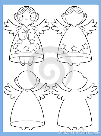 The coloring page with pattern - illustration for the kids