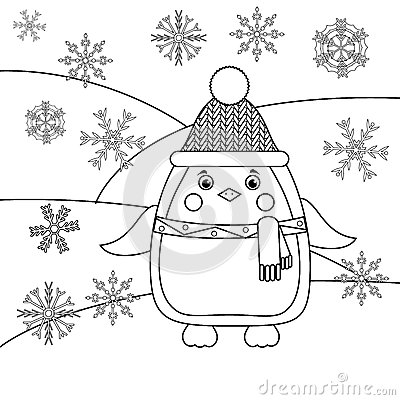 Coloring Winter Animals : This is a free snowman drawing and coloring activity on