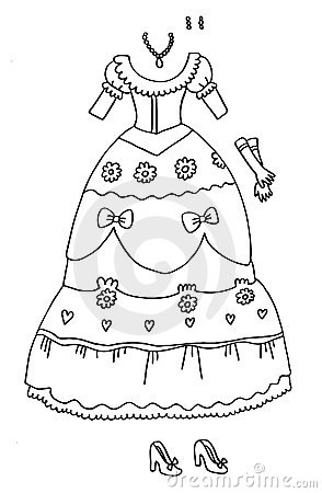 Coloring Page - Princess Wardrobe
