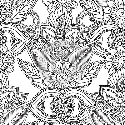 coloring pages abstract designs - coloring pages for adults seamles henna mehndi doodles